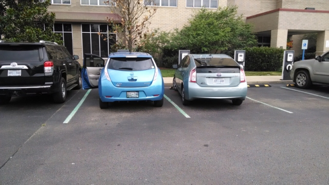 Horror of Horrors. A Prius ICE's an EV charging space!!
