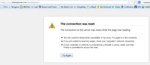 Blinknetwork website down - Click to enlarge