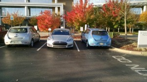 Tesla on Nissan home turf - click to enlarge