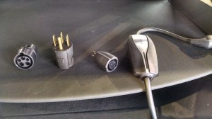 Model S portable EVSE and adapters
