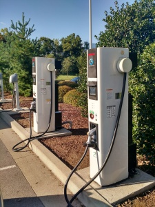 Upgraded DC Fast Charge Stations at Nissan HQ. Click to enlarge.